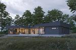 casa de madera maciza apilada