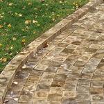adoquín de madera / para peatones / de jardín / de exterior