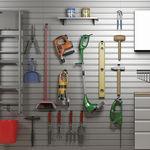organizador mural / contemporáneo / de aluminio / para garaje