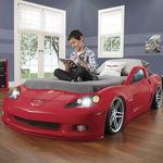 cama individual / de diseño original / para niños / con ruedas