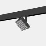 iluminación sobre riel LED / cuadrada / de metal / para comercio