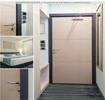 puerta de interior / abatible / de aluminio / de acero inoxidable