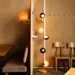 lámpara de pie / contemporánea / de latón / de vidrio soplado