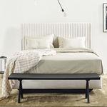 cabecero para cama doble / contemporáneo / de tejido / tapizado