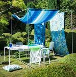 tela de tapicería / para cortinas / para protección solar / con motivos