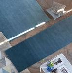 alfombra de colores / moderna / de color liso / de lana