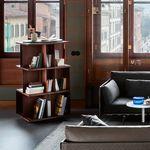 biblioteca contemporánea / de nogal / de MDF / de acero pintado