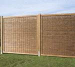 valla de jardín / de láminas / de pino / de ocultación