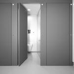 cabina sanitaria para baño de madera