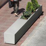 jardinera de hormigón / rectangular / modular / moderna