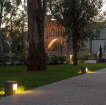 bolardo de iluminación de jardín / urbano / moderno / de acero galvanizado