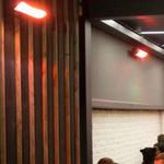 estufa de infrarrojos de pared