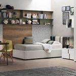 habitación para niños verde / gris / de madera lacada / unisex