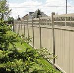 valla de jardín / con paneles / de PVC