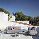 sofá modular / de esquina / contemporáneo / de jardín
