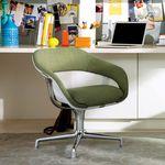 silla de conferencia contemporánea / tapizada / con reposabrazos / con ruedas
