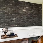 fachaleta de ladrillo para fachada / interior / negro / aspecto piedra
