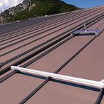 tejado de zinc-titanio / acanalado / con junta alzada / coloreado