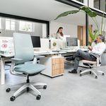 sillón de oficina contemporáneo / de tejido / con ruedas / con patas en forma de estrella