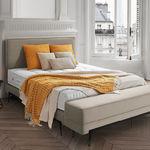cabecero para cama doble / contemporáneo / de tejido / de cuero