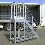 plataforma de trabajo / de exterior / para almacenamiento