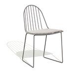 silla de jardín moderna / patín / con cojín amovible / de metal
