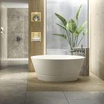 bañera independiente / redonda / de porcelana / profunda