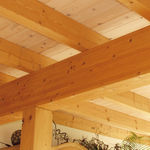 viga prefabricada / de madera / rectangular
