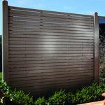 valla de jardín / de láminas / de madera