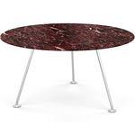 mesa de comedor contemporánea / de vidrio templado / de material laminado / de mármol