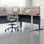 separador para oficina para suelo / de tejido / de vidrio / laminado