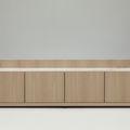 Aparador contemporáneo / de madera lacada / de roble albar / modulable