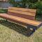 banco de jardín / contemporáneo / de madera / de hierro