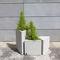 maceta de jardín en GRC / triangular / para espacio público