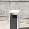 cubo de basura público / de metal lacado / de hormigón / contemporáneo