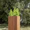 jardinera de madera / de hierro / de altura / contemporánea