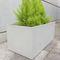 jardinera de hormigón reforzado con fibra / rectangular / contemporánea / para espacio público