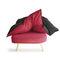 sillón bajo de diseño original / de tejido / respetuoso con el medioambiente