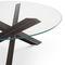 mesa contemporánea / de acero / de acero inoxidable / con base de acero