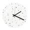 reloj moderno / analógico / de pared / de hormigón