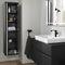 mueble de lavabo simple / suspendido / de madera / contemporáneo