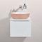 lavabo sobre encimera / redondo / de cerámica / contemporáneo