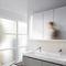 mueble de baño de pared / con espejo