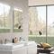 mueble de baño contemporáneo / de vidrio / de pared / con espejo