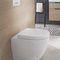 inodoro de pie / de cerámica / sin brida / para baño público