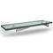 escalera recta / estructura de acero inoxidable / con peldaños de vidrio / sin contrahuellas