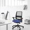 sillón de oficina contemporáneo / en malla / con ruedas / con patas en forma de estrella