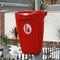 cubo de basura público / de pared / de plástico reciclado / contemporáneo