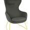 sillón de visita moderno / de textil / con respaldo alto / con patas en forma de estrella