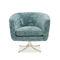 sillón clásico / de terciopelo / de metal dorado / giratorio